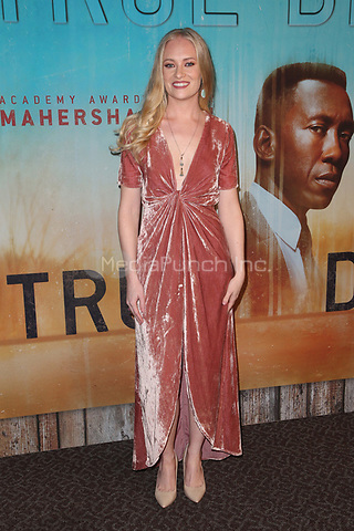 LOS ANGELES, CA - JANUARY 10: Lauren Sweetser at the Los Angeles Premiere of HBO's True Detective Season 3 at the Directors Guild Of America in Los Angeles, California on January 10, 2019. Credit: Faye Sadou/MediaPunch