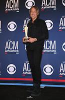 07 April 2019 - Las Vegas, NV - Keith Urban. 54th Annual ACM Awards Press Room at MGM Grand Garden Arena. Photo Credit: MJT/AdMedia