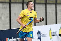 2nd February 2020; Sydney Olympic Park, Sydney, New South Wales, Australia; International FIH Field Hockey, Australia versus Great Britain; Kurt Lovett of Australia scores but his goal is deemed after the final time whislte
