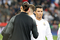 Real Madrid´s Portuguese forward Cristiano Ronaldo and Paris Saint Germain´s forward Zlatan Ibrahimovic