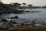 Bicyclist in Pacific Grove