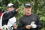 Miguel Angel Jimenez and his caddy on the 11th tee during the 3rd round of the BMW PGA Championship at Wentworth Club, Surrey, England 26th may 2007 (Photo by Eoin Clarke/NEWSFILE)