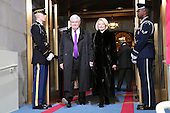 Former Speaker of the United States House of Representatives Newt Gingrich (Republican of Georgia) and wife Callista Gingrich arrive for the presidential inauguration on the West Front of the U.S. Capitol January 21, 2013 in Washington, DC.   Barack Obama was re-elected for a second term as President of the United States.      .Credit: Win McNamee / Pool via CNP