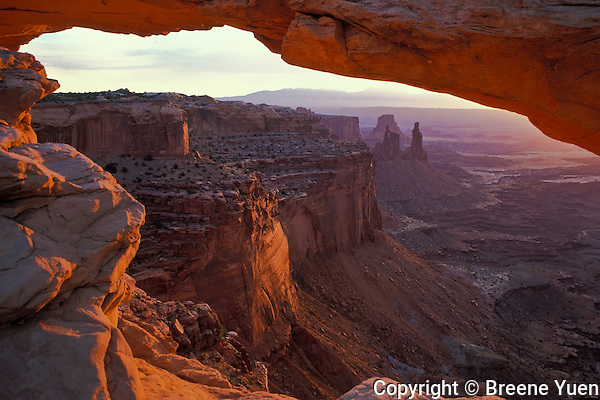 Sunrise View of Mesa Arch, Canyonlands National Park, Utah