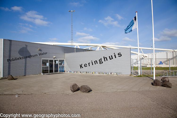 Information centre, Maeslant Barrier storm surge flood defence, New Waterway, Hook of Holland, Rotterdam, Netherlands