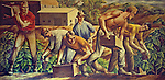 Painting on wall of St. Helena post office, painted during 1930s