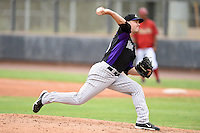 Colorado Rockies pitcher Alec Crawford (31) during an Instructional League game against the Arizona Diamondbacks on October 8, 2014 at Salt River Fields at Talking Stick in Scottsdale, Arizona.  (Mike Janes/Four Seam Images)