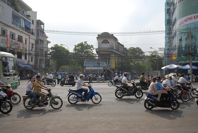 Motor bike traffic in Ho Chi Minh City, Vietnam.