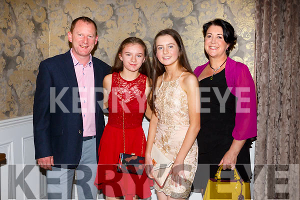 Liam Kingston, Muire Kingston, Ciara Rath and Noelle Kingston of Na Gaeil at the Kerry Ladies Gaelic Football Association Awards in The Rose Hotel on Saturday night.