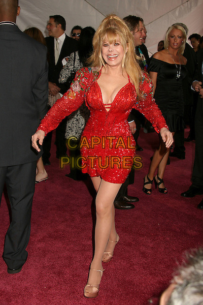 CHARO.5th Annual TV Land Awards at Barker Hangar, Santa Monica, California, USA, 14 April 2007..full length red dress .CAP/ADM/BP.©Byron Purvis/AdMedia/Capital Pictures.