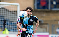Max Kretzschmar of Wycombe Wanderers keeps eyes on the ball during the Sky Bet League 2 match between Wycombe Wanderers and Barnet at Adams Park, High Wycombe, England on 16 April 2016. Photo by Andy Rowland.