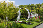 The Breast Cancer Now Garden: Through the Microscope. <br /> Designed by: Ruth Willmott. Sponsored by: Group of donors in aid of Breast Cancer Now. RHS Chelsea Flower Show 2017. Stand no. Fresh Garden 89