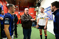 Picture by SWpix.com 07/10/2017 - Rugby League - Betfred Super League Grand Final - Castleford Tigers v Leeds Rhinos, Old Trafford Manchester,England - The Brief coin toss