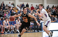 #32 Ryan Kaneshiro<br /> The Occidental College men's basketball team plays against Pomona-Pitzer in the SCIAC Tournament Championship on Saturday, Feb. 23, 2019 in Claremont. Oxy lost, 68-45.<br /> Oxy finishes with its best overall record since 2007-08 at 22-5 overall, and went 12-4 in SCIAC play for the second season in a row.<br /> (Photo by Marc Campos, Occidental College Photographer)