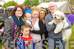 Pictured at Ardfert family fun day on Sunday were l-r: Joanne O'Brien, Brian Deady, Tj Finucane Aisling Griffin Sharon O'Brien Cianan Ferris and Paolo (winner of the dog show).