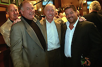 Former Green Bay Packers Max McGee, Jerry Kramer and Bart Starr with film maker Ted Demme at the Lombardi Legends reunion at Lombardi's Steakhouse in Appleton, Wisconsin in September of 2001. Demme was researching the former Packers for a feature-lengh film but died only four months later.