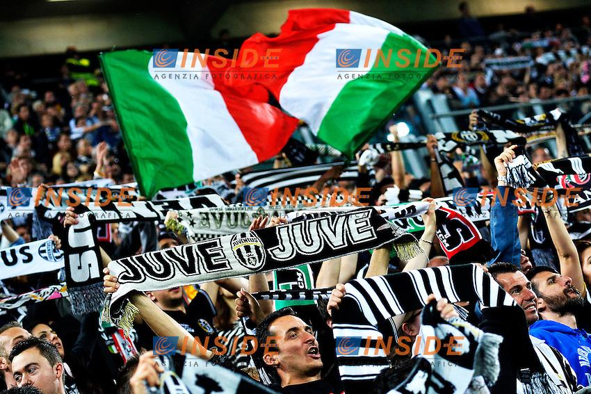 Tifosa Juventus Supporter <br /> Torino 06-05-2014 Juventus Stadium - Football Calcio 2013/2014 Serie A, Juventus - Atalanta, Foto Andrea Staccioli / Insidefoto