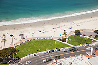 Aerial of Main Beach in Laguna Beach California
