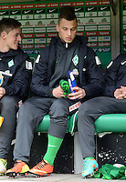 FUSSBALL   1. BUNDESLIGA   SAISON 2012/2013    26. SPIELTAG SV Werder Bremen - Greuther Fuerth                        16.03.2013 Marko Arnautovic (SV Werder Bremen) sitzt zu Beginn des Spiels nur auf der Ersatzbank