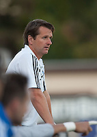 Earthquakes Head Coach Frank Yallop watches the play. The San Jose Earthquakes tied DC United 2-2 at Buck Shaw Stadium in Santa Clara, California on July 25, 2009.