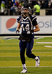 November 10, 2012: Nevada Wolf Pack receiver #44 Zach Sudfeld warms up before thier game against the Fresno State Bulldogs played at Mackay Stadium on Saturday night in Reno, Nevada.