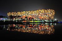 Aug. 8, 2008; Beijing, CHINA; View of the stadium following the opening ceremonies for the 2008 Beijing Olympic Games at the National Stadium. Mandatory Credit: Mark J. Rebilas-