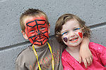 Luke Woods and Freya Harris<br /> at the summer fair in St Peters church of Ireland.<br /> Picture:  www.newsfile.ie