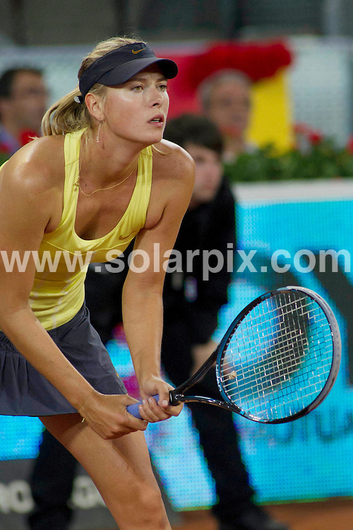 **ALL ROUND PICTURES FROM SOLARPIX.COM**                                             **WORLDWIDE SYNDICATION RIGHTS EXCEPT SPAIN - NO SYNDICATION IN SPAIN**                                                                                  Caption: Maria Sharapova plays against Dominika Cibulkova in the Madrid Open tennis tournament. Madrid, Spain. 3 May 2011                                                                              This pic: Maria Sharapova                                                                                             JOB REF: 13265 DMS       DATE: 03_05_2011                                                           **MUST CREDIT SOLARPIX.COM OR DOUBLE FEE WILL BE CHARGED**                                                                      **MUST AGREE FEE BEFORE ONLINE USAGE**                               **CALL US ON: +34 952 811 768 or LOW RATE FROM UK 0844 617 7637**