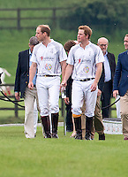 Princes William and Harry play a polo match - UK