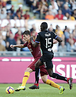 Football, Serie A: AS Roma - Sampdoria, Olympic stadium, Rome, November 11, 2018. <br /> Roma's Patrick Schick (l) in action with Sampdoria Omar Colley during the Italian Serie A football match between Roma and Sampdoria at Rome's Olympic stadium, on November 11, 2018.<br /> UPDATE IMAGES PRESS/Isabella Bonotto