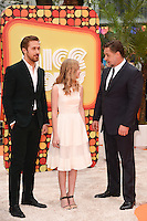 "Ryan Goslin, Angourie Rice and Russell Crowe<br /> arrives for the premiere of ""The Nice Guys"" at the Odeon Leicester Square, London.<br /> <br /> <br /> ©Ash Knotek  D3120  19/05/2016"