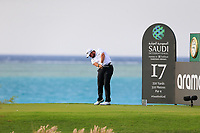 Shane Lowry (IRL) on the 17th tee during the 1st round of  the Saudi International powered by Softbank Investment Advisers, Royal Greens G&CC, King Abdullah Economic City,  Saudi Arabia. 30/01/2020<br /> Picture: Golffile | Fran Caffrey<br /> <br /> <br /> All photo usage must carry mandatory copyright credit (© Golffile | Fran Caffrey)