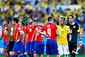 Mauricio Isla (CHI), Neymar (BRA),<br /> JUNE 28, 2014 - Football / Soccer :<br /> Neymar of Brazil shakes hand with Mauricio Isla of Chile after winning the penalty shoot out during the FIFA World Cup Brazil 2014 Round of 16 match between Brazil 1(3-2)1 Chile at Estadio Mineirao in Belo Horizonte, Brazil. (Photo by D.Nakashima/AFLO)