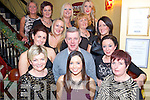 Staff from the Hawthorn Ward in St. Columbanus Nursing Home, Sheila Cronin, Sinead Daly, Kathleen Hobbins, Claire Moriarthy, Philip Coffey, Carmen McCarthy, Joanne Donnelly, Geraldine Murphy, Treacy Lynch, Laura Power, Marian Cournane, Kerrie Beckett and Maria Brosnan enjoying their Christmas Party in Lord Kenmare's Restaurant, Killarney last Saturday night.