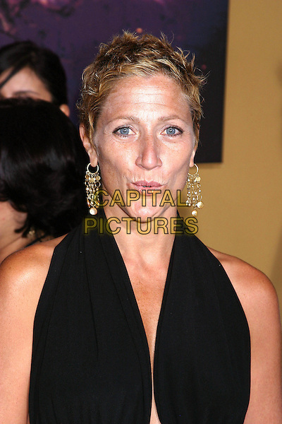 EDIE FALCO .Premiere of The Village at Prospect Park, Brooklyn, New York, July 26th 2004. .half length black halterneck funny face gold drop earrings.Ref: IW.www.capitalpictures.com.sales@capitalpictures.com.©Capital Pictures.