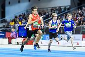 2nd February 2019, Karlsruhe, Germany;  60m U16 men: winner Heiko Gussmann (left). IAAF Indoor athletics maeeting, Karlsruhe