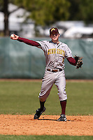 February 28, 2010:  Shortstop A.J. Pettersen of the Minnesota Golden Gophers during the Big East/Big 10 Challenge at Raymond Naimoli Complex in St. Petersburg, FL.  Photo By Mike Janes/Four Seam Images