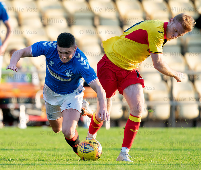 26.08.2019 Rangers Colts v Partick Thistle: Jake Hastie and Shea Gordon