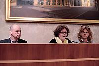 Roma, 3 Aprile 2017<br /> Claudio e Paola Regeni con l'avvocata Alessandra Ballerini.<br /> Conferenza stampa al Senato della famiglia di Giulio Regeni, il giovane ricercatore scomparso e trovato morto con evidenti segni di torture in Egitto a febbraio del 2016