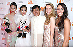 Zhang Lanxin, Yao Xingtong, Jackie Chan, Laura Weissbecker and Caitlin Dechelle attending the The 2012 Toronto International Film Festival Red Carpet Arrivals for 'A Conversation with Jackie Chan' at the Princess of Wales Theatre in Toronto on 9/9/2012