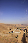 Israel, Judean desert, Masada, the top of the plateau