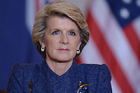 November 20, 2013  (Washington, DC)  Australian Foreign Minister Julie Bishop at the State Department for a press availability with Secretary of State John Kerry and Secretary of Defense Chuck Hagel.  (Photo by Don Baxter/Media Images International)