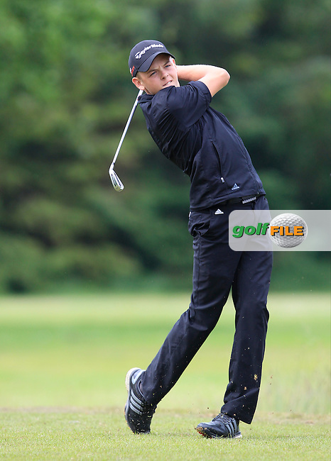 Oliver Clarke (England) on the 9th tee during Round 3 of the Irish Boys Amateur Open Championship at Tuam Golf Club on Thursday 25th June 2015.<br /> Picture:  Thos Caffrey / www.golffile.ie
