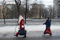 RUSSLAND, Moskau, 01.2008. ©  Sergey Kozmin/EST&OST.Weihnachten mit Vaeterchen Frost. | Christmas with Father Frost.