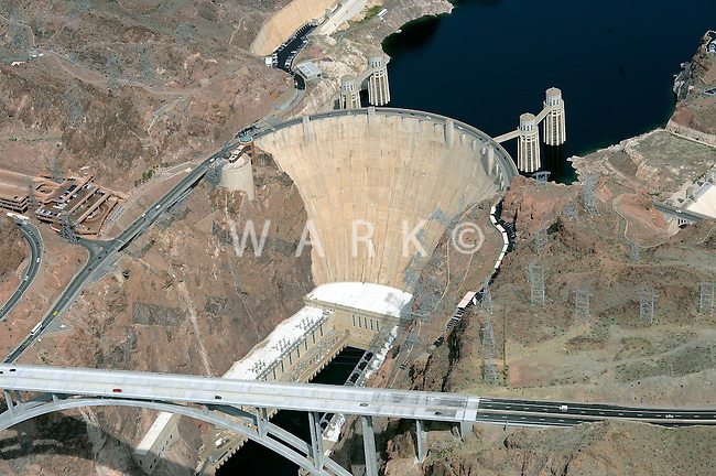 Aerial of Hoover Dam