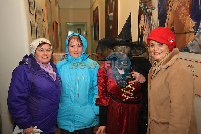 Carol Kierans, Bernadette McGuinness, Margaret Clinton and Sandra Cummins before the Millmount ghost tour of Drogheda..Picture: Shane Maguire / www.newsfile.ie.