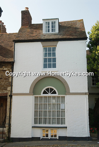 Rye East Sussex UK Georgian town house building at the corner of  West Street and Church Square