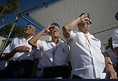 World War II veterans 442nd Combat Regimental Team colleagues of the late Senator Daniel Inouye (Democrat of Hawaii) salute during the playing of taps at the National Memorial Cemetery of the Pacific during funeral ceremonies for the Senator, Sunday, December 23, 2012.  Senator Inouye was a Medal of Honor recipient and a United States Senator since 1963.    .Credit: Cory Lum / Pool via CNP