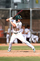 Oakland Athletics outfielder J.P. Sportman (28) during an Instructional League game against the San Francisco Giants on October 15, 2014 at Papago Park Baseball Complex in Phoenix, Arizona.  (Mike Janes/Four Seam Images)