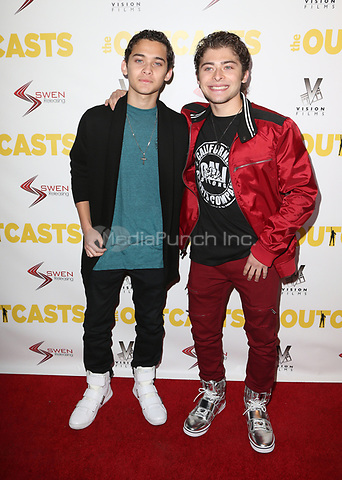 "WESTWOOD, CA - April 13: Robert Ochoa, Ryan Ochoa, At Premiere Of Swen Group's ""The Outcasts"" At The Landmark Regent  In California on April 13, 2017. Credit: FS/MediaPunch"
